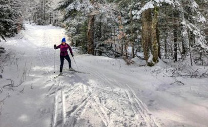 woman skiing cross-country