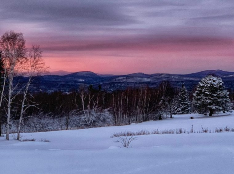 winter views of mountains